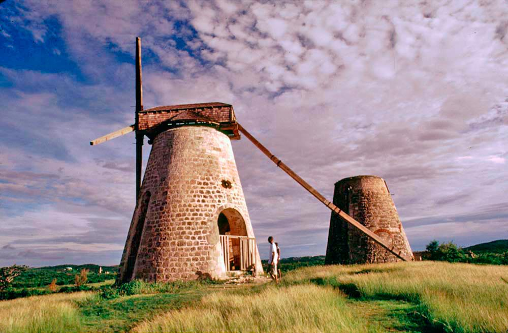 Betty's Hope windmill. Photograph by Chris Huxley