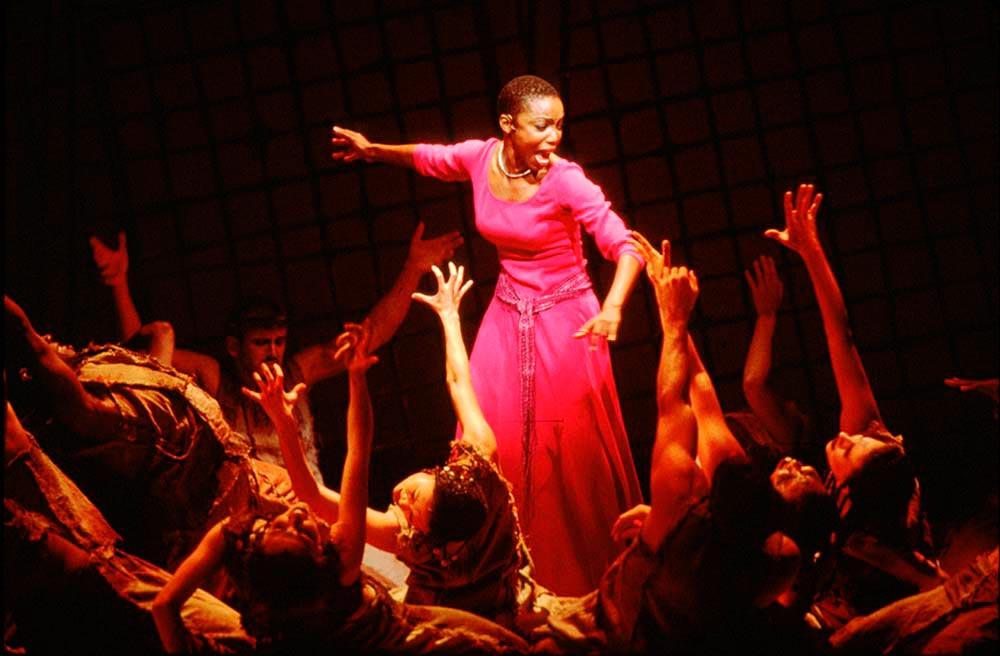 Performing in Aïda. Photograph by Joan Marcus/ Courtesy Heather Headley