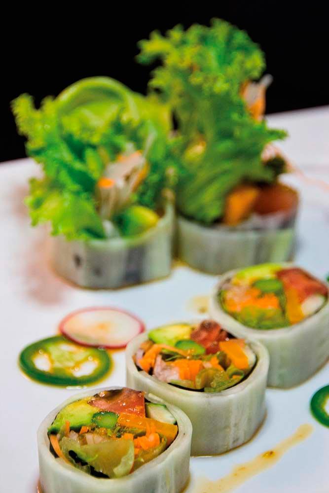 Tilokee's vegan roll combines eggplant with mushrooms. Photography courtesy Samurai