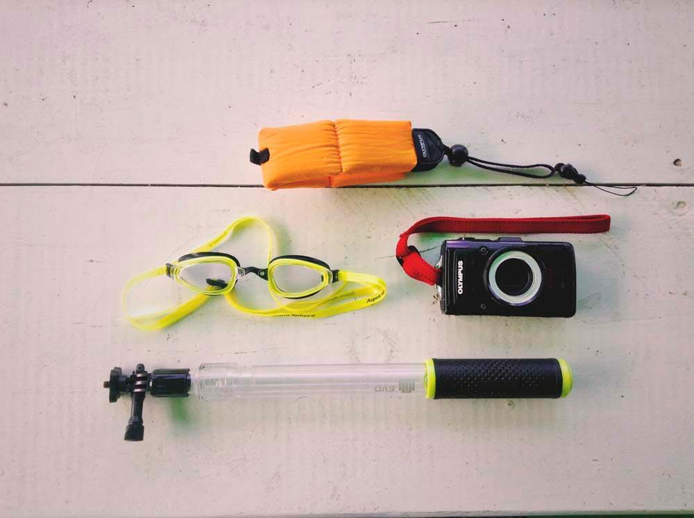 Huggins's underwater gear. Photography by Nadia Huggins