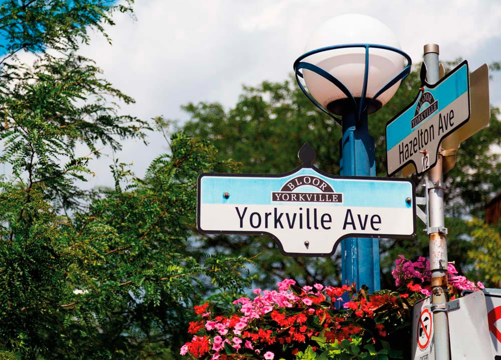 The Yorkville neighbourhood is famous for upscale shopping. Photograph by Mikecphoto/Shutterstock.com