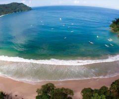 Panoramic view of Las Cuevas Bay. Photograph courtesy TDC