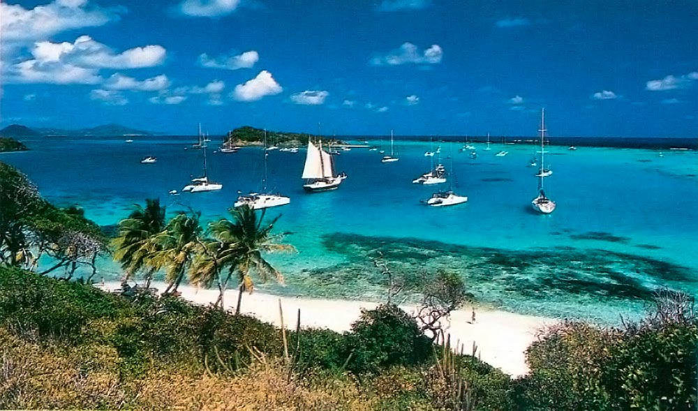 Tobago Cays anchorage. Photograph by Chris Huxley