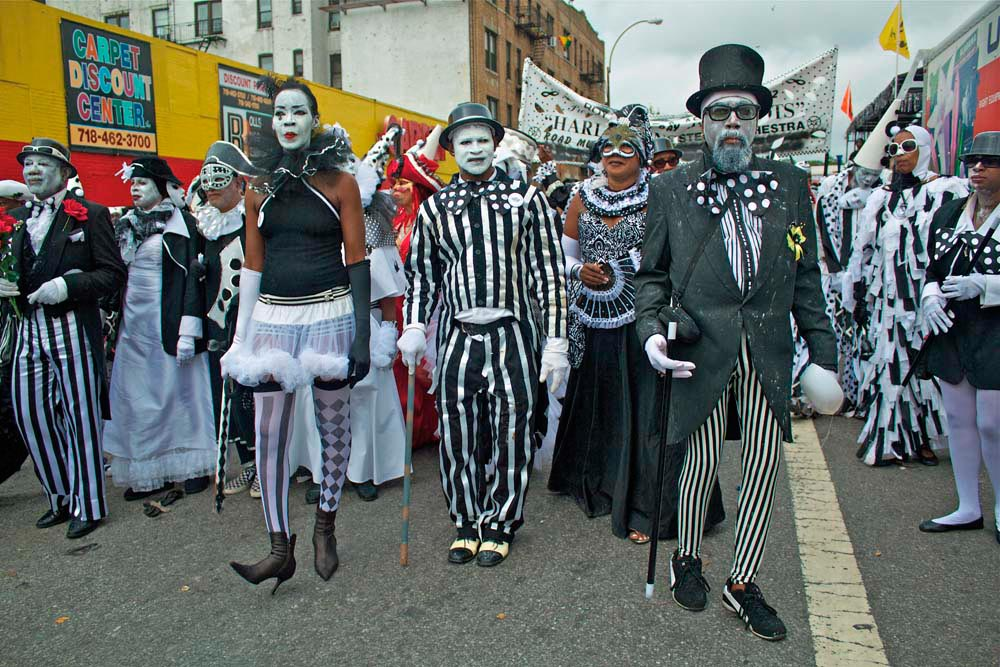 2012's Harlequins and Pierrots on the streets of Brooklyn. Photography by Keith Getter