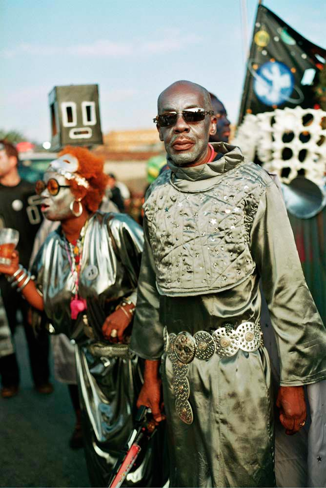 Masquerader Errol Husband, portraying a Space Priest in the 2007 band X-tra Terrestrial. Photography by Keith Getter