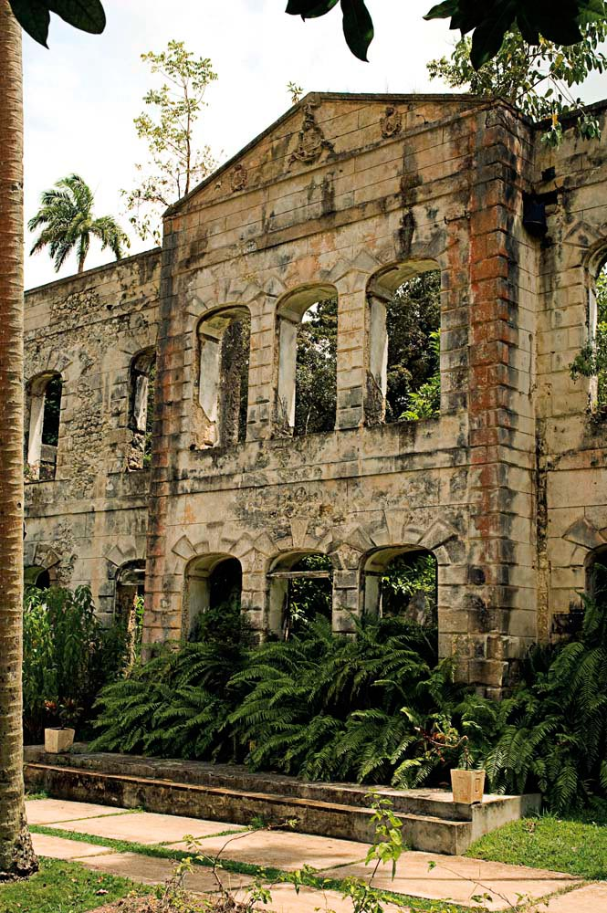Farley Hill's impressive façade survived a fire in the 1960s. Photograph by Barbados Tourism Authority