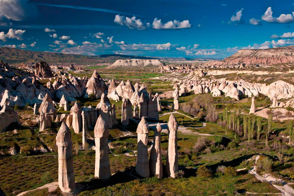 "Cappadocia is famed for its landscape of fantastic rock formations, including the so-called ""fairy chimneys"". Photograph by Berzina/shutterstock.com"