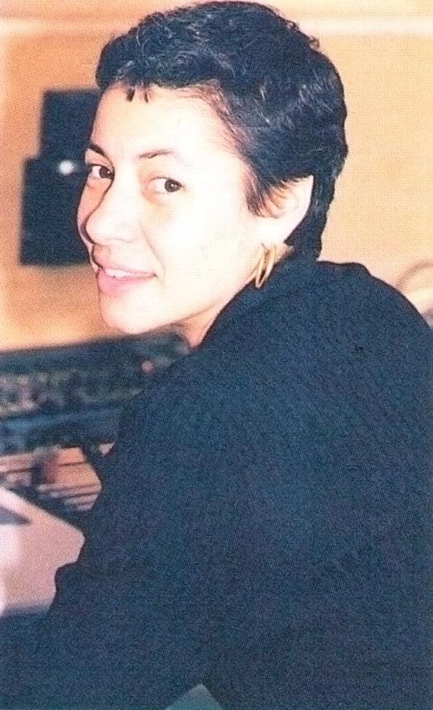 In the recording studio. Photograph by Bruce Paddington