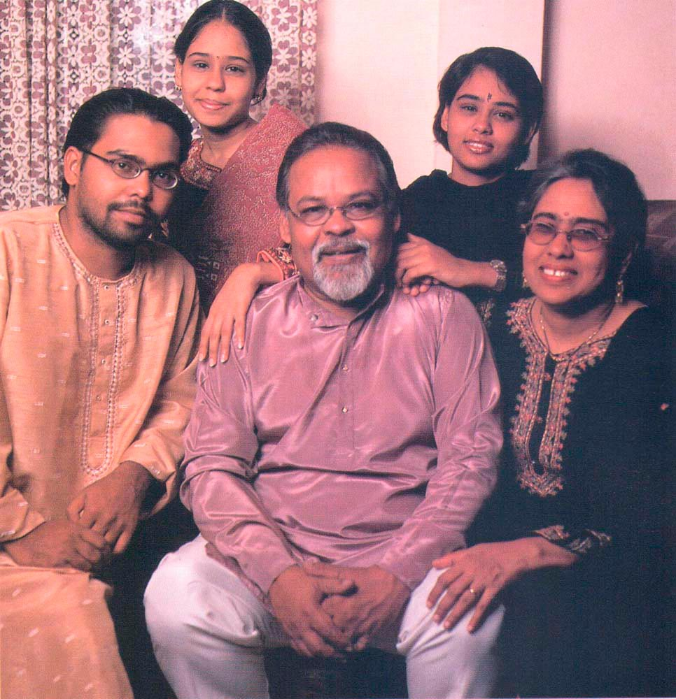 Mungal with wife Roshni and children Prashant (from left), Amrita and Sharda. Photograph by Mark Lyndersay