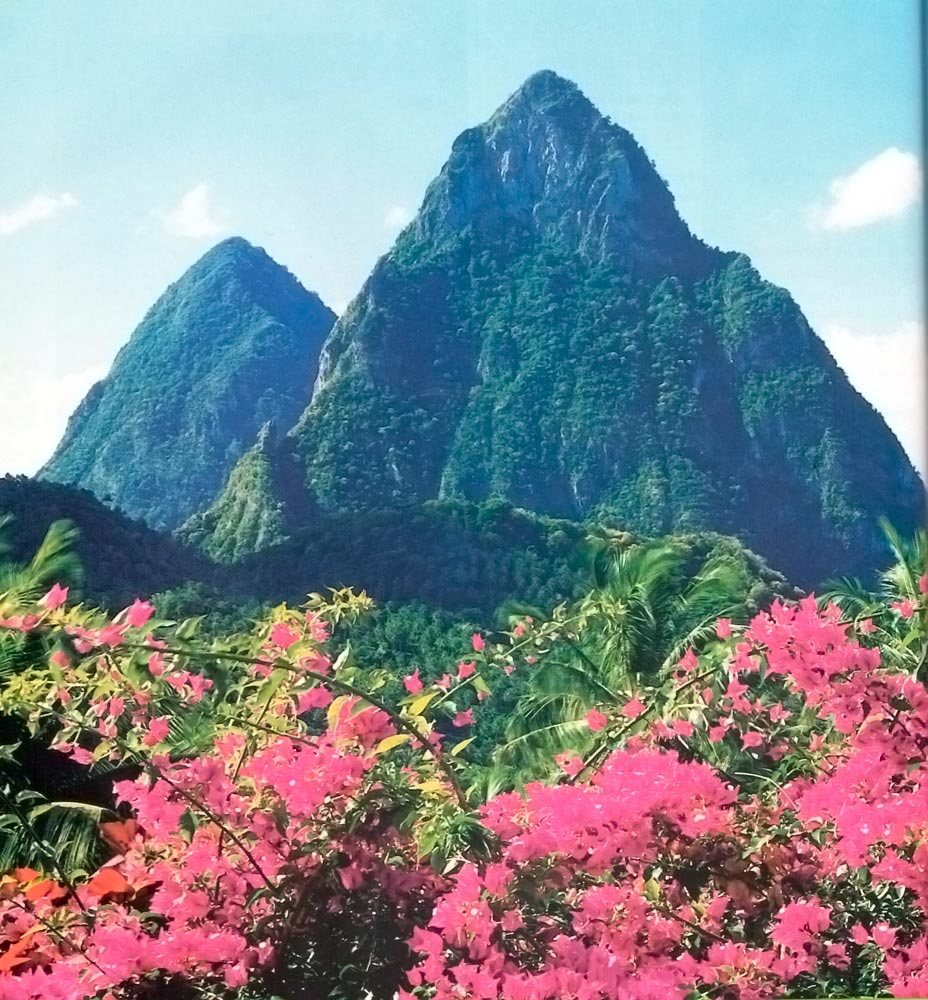 Gros and Petit Pitons. Photograph by Chris Huxley