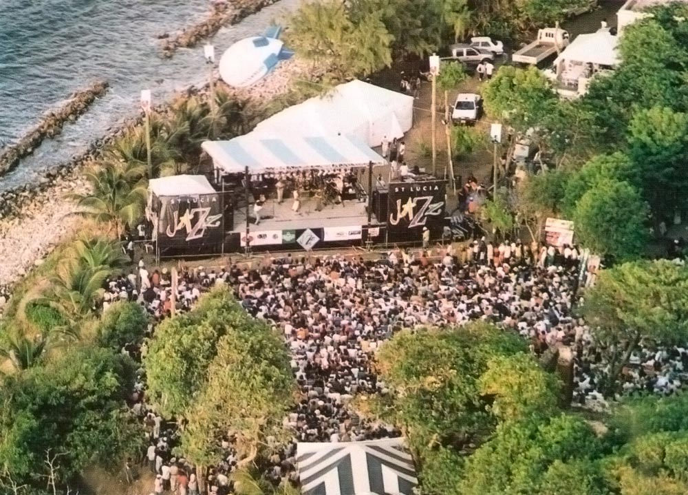 The St Lucia Jazz Festival in session on Pigeon Island. Photograph by Andrea De Silva