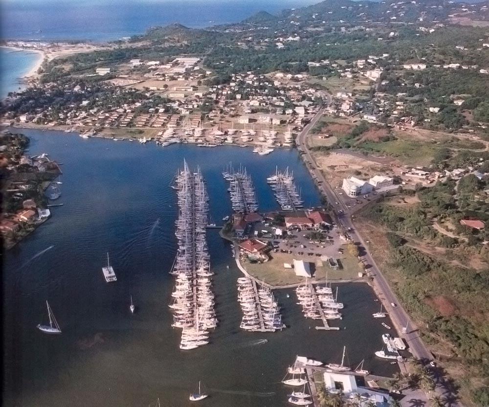 Rodney Bay Marina. Photograph by Chris Huxley