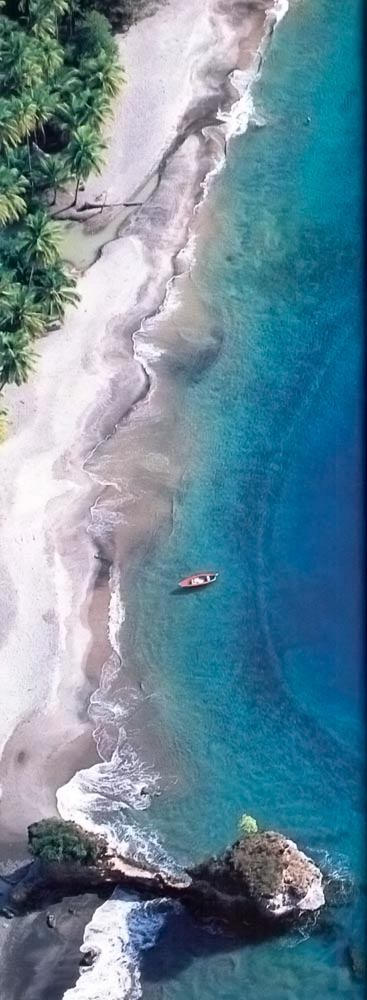 Anse Mamin Beach. Photograph by Chris Huxley
