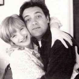 Sam Mendes with actress Jane Horrocks, star of the stage version (directed by him) and film version of Little Voices. Photograph courtesy Stephen Mendes