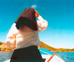 Sister Marie Therese Retout heads for Marine Bay, Chacachacare. Photograph by Catherine Gillo