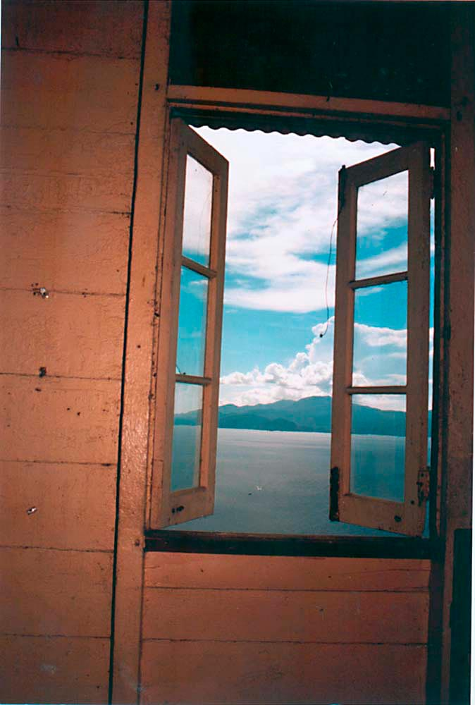 View from the lighthouse window, with Venezuela in the distance. Photograph by Catherine Gillo