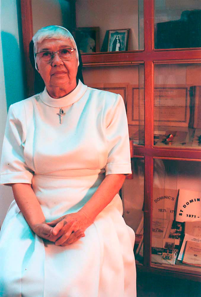 Sister Marie Therese at the Resource Centre, Holy Name Convent, Port of Spain, where her research continues. Photograph by Catherine Gillo