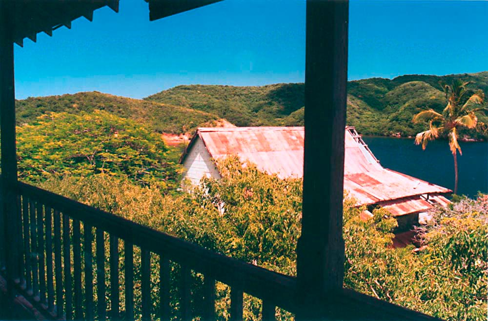 View from the chaplain's house. Photograph by Catherine Gillo