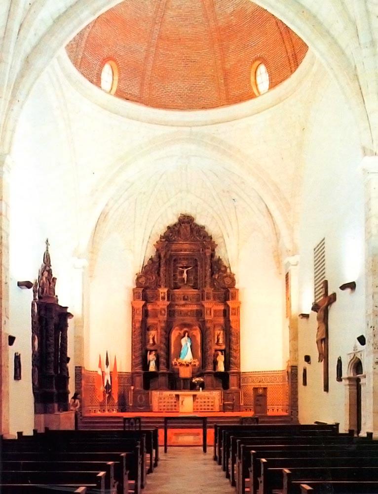 Altar area of colonial-era church. Photograph by Wyatt Gallery