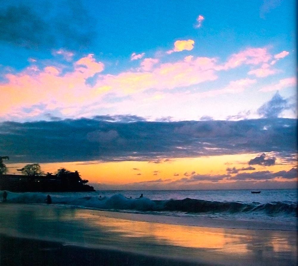 Store Bay at dusk. Photograph by Sean Drakes/Blue Mango
