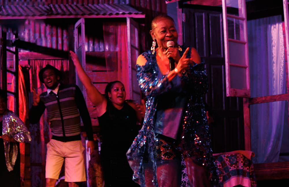 Calypso Rose performs at the Barrack Yard Tent Experience. Photo courtesy The Barrack Yard Tent Experience