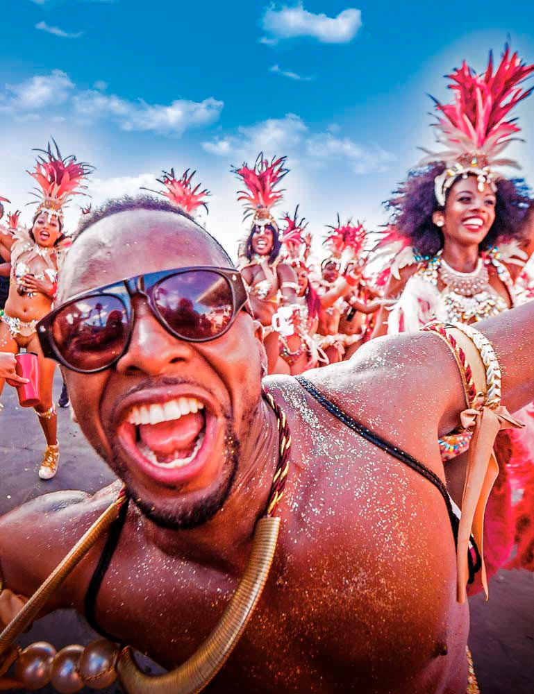 Having the time of his life at the Carnival Socadrome. Photo by Dwayne Watkins