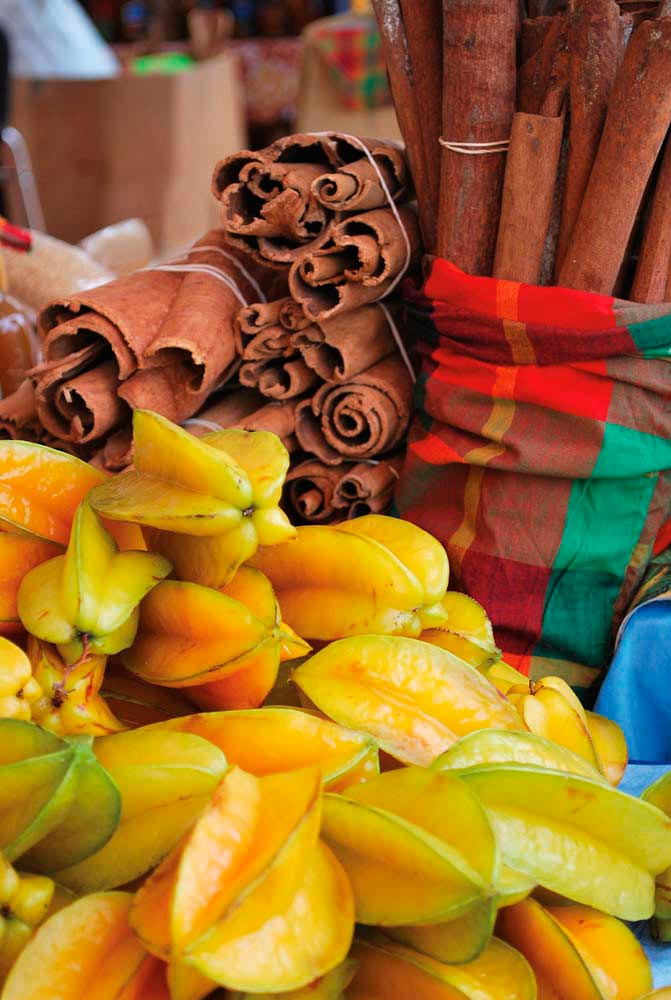 The island's markets are an extravaganza of produce and spices. Photo by Sprada/iStock.com