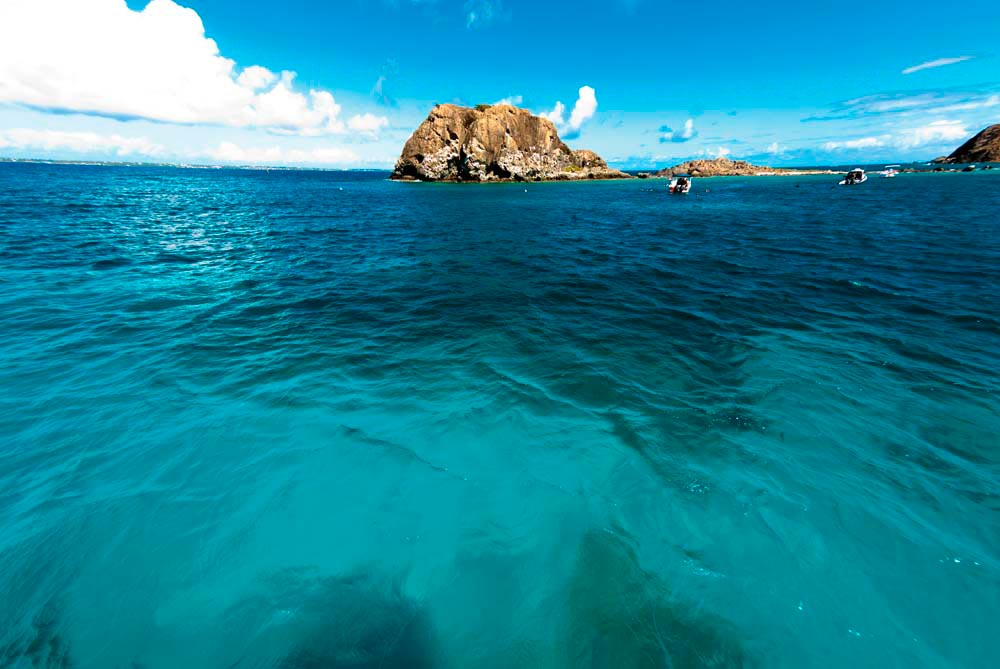 The gorgeous sea off Cul-de-Sac, a village in French Saint-Martin. Photo by Bcampbell65 / Shutterstock.com