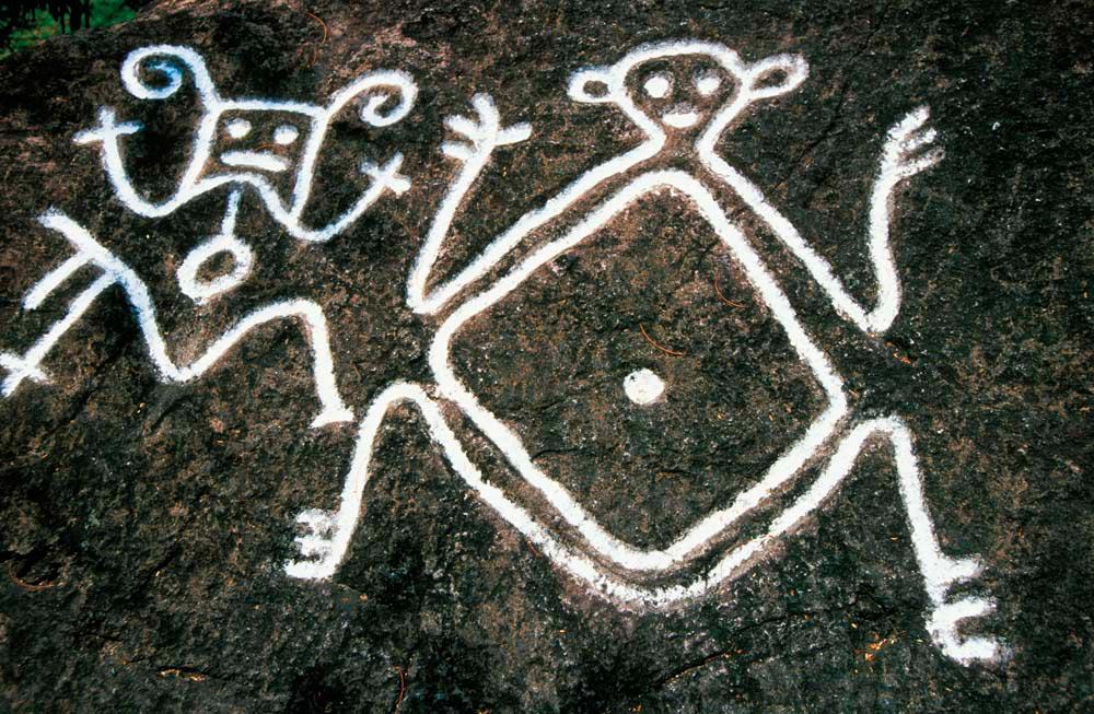 Romney Manor petroglyphs, St Kitts. Photo by Nik Wheeler/Alamy.com