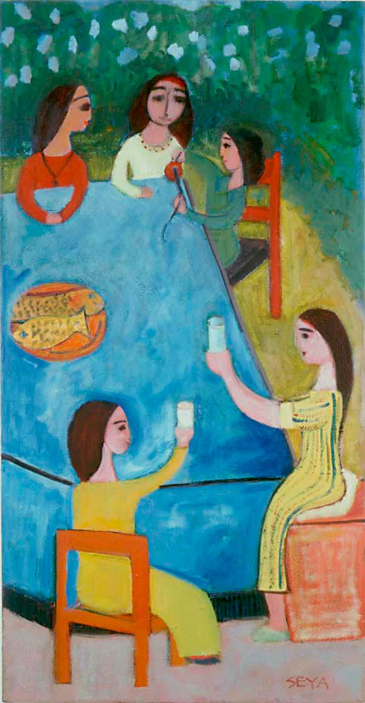 A Family Group, 1994, mixed media on canvas