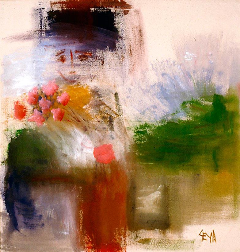 Heart's Bouquet, 1994, acrylic on unprimed linen