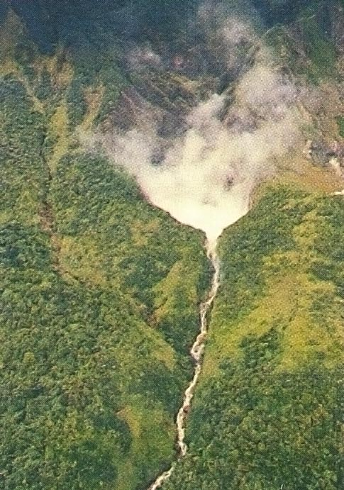 Aerial view of the Boiling Lake. Photograph by Clem Johnson/ Freestyle