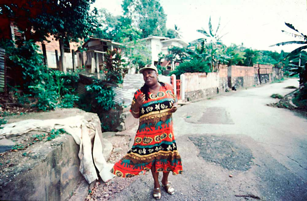 Sandra talks about the neighbourhood where she was raised. Photograph by Horace Ové