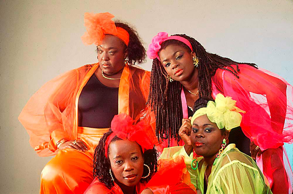 The United Sisters: clockwise from top right Tigress, Lady B, Marvellous Marva and Singing Sandra. Photograph by Mark Lyndersay