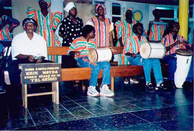 A women's Kawina group: welcome Suriname. Photograph by Simon Lee