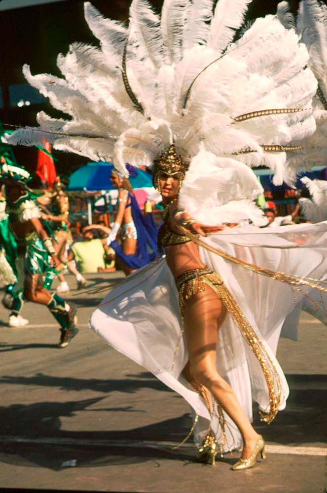 Masquerader from Local Motion, Harts 1999. Photograph by Mark Lyndersay
