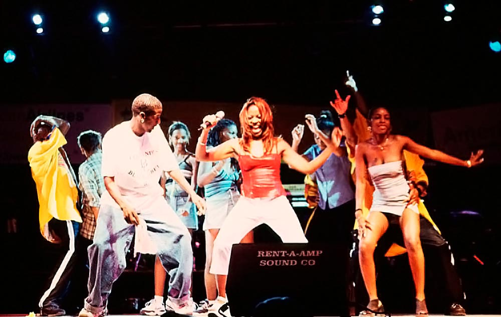 R & B singer Shanice. Photograph by Sean Drakes