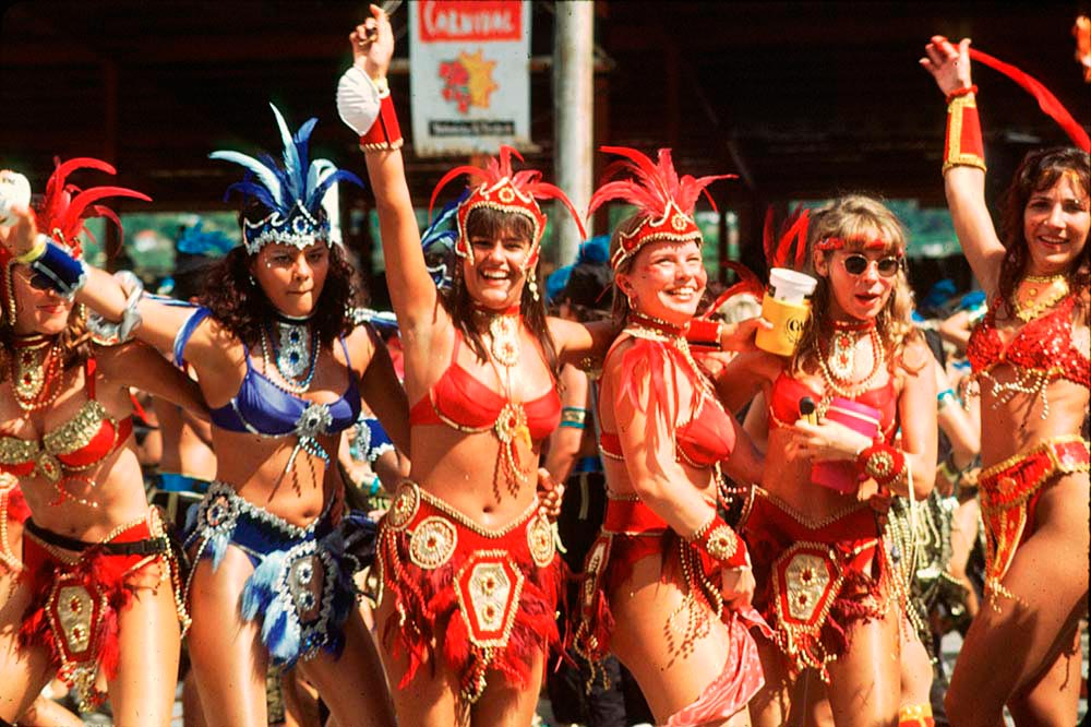 Some of Harts' bikini-clad revellers in Before 2000. Photograph by Mark Lyndersay