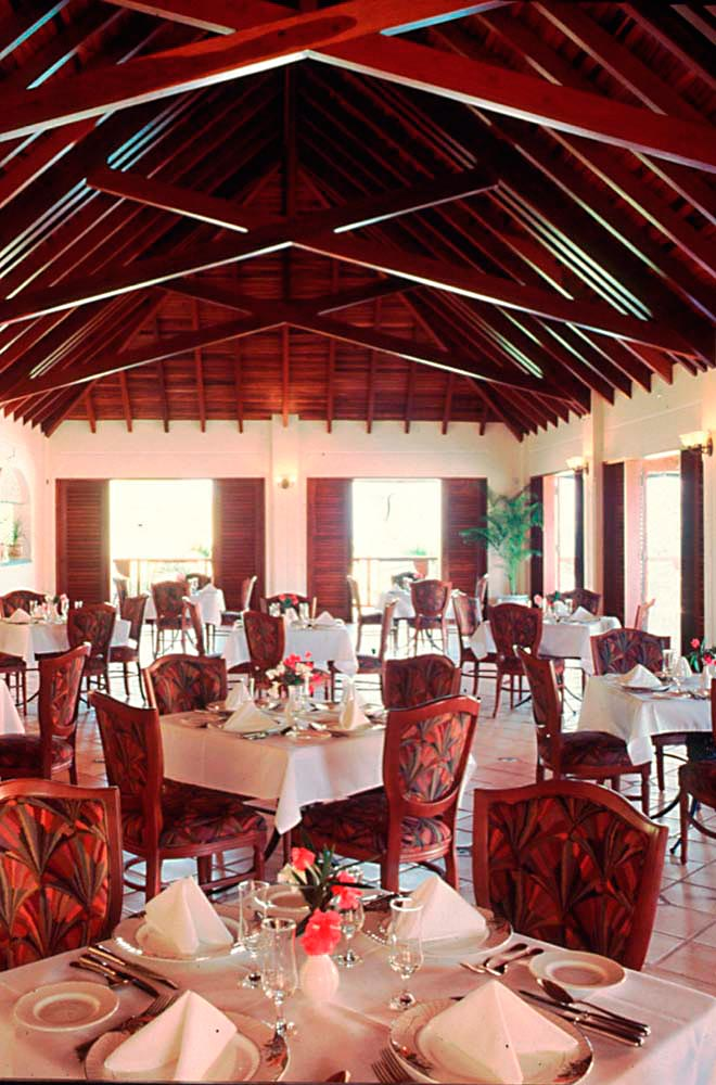 Dining room at LaSource, Pt Salines. Photo courtesy LaSource