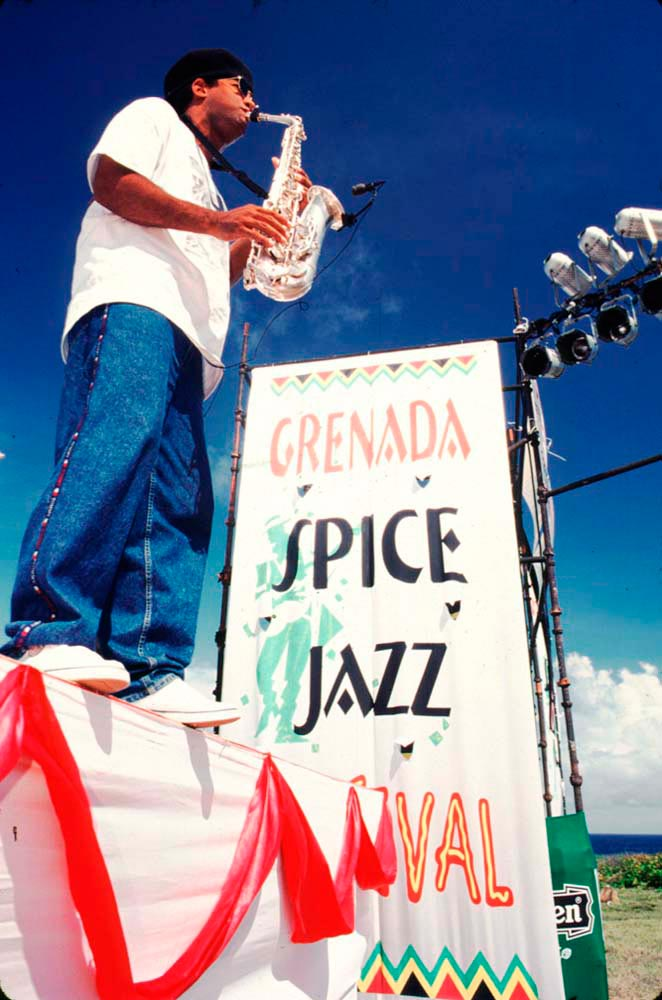 Arturo Tappin at the Grenada Spice Jazz Festival, 1998. Photo by Chris Huxley