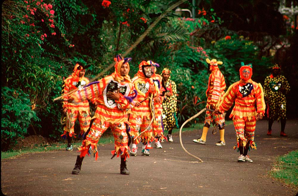 Jab Molassies at Viey La Cou, Queen's Hall. Photograph by Mark Lyndersay