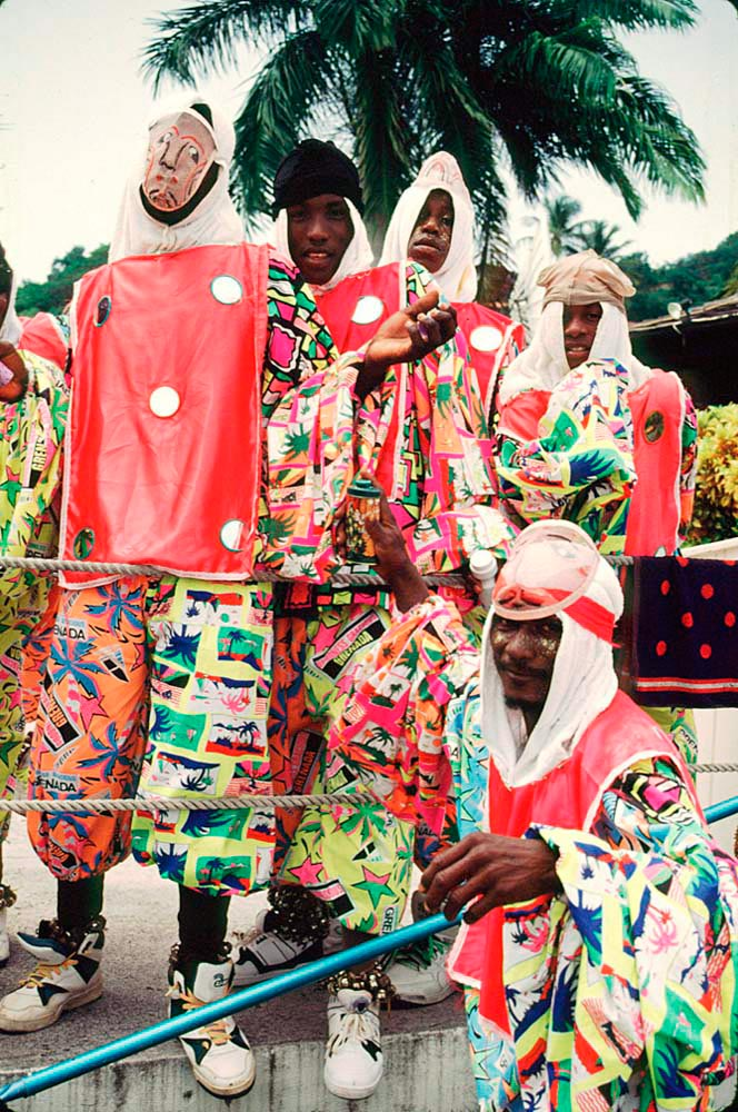Traditional carnival characters. Photo by Chris Huxley