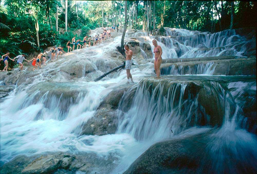 Dunn's River Falls, Ocho Rios, Jamaica. Photograph by Ray Chen
