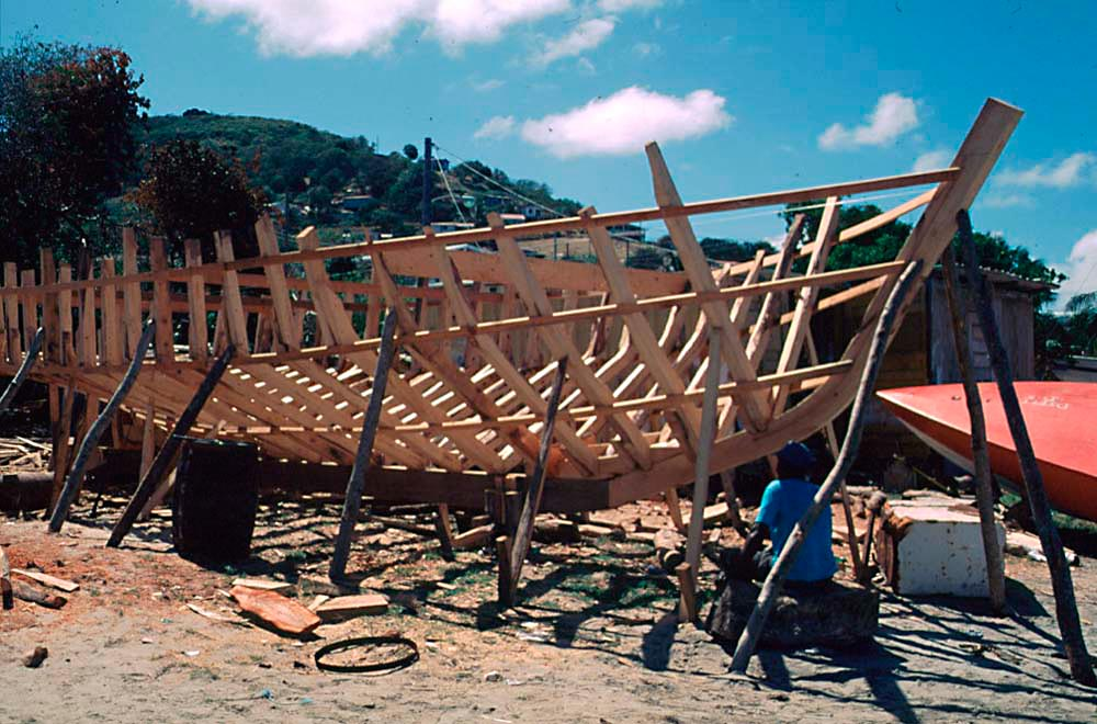 Boat-building on Petite Martinique. Photo by Jim Rudin