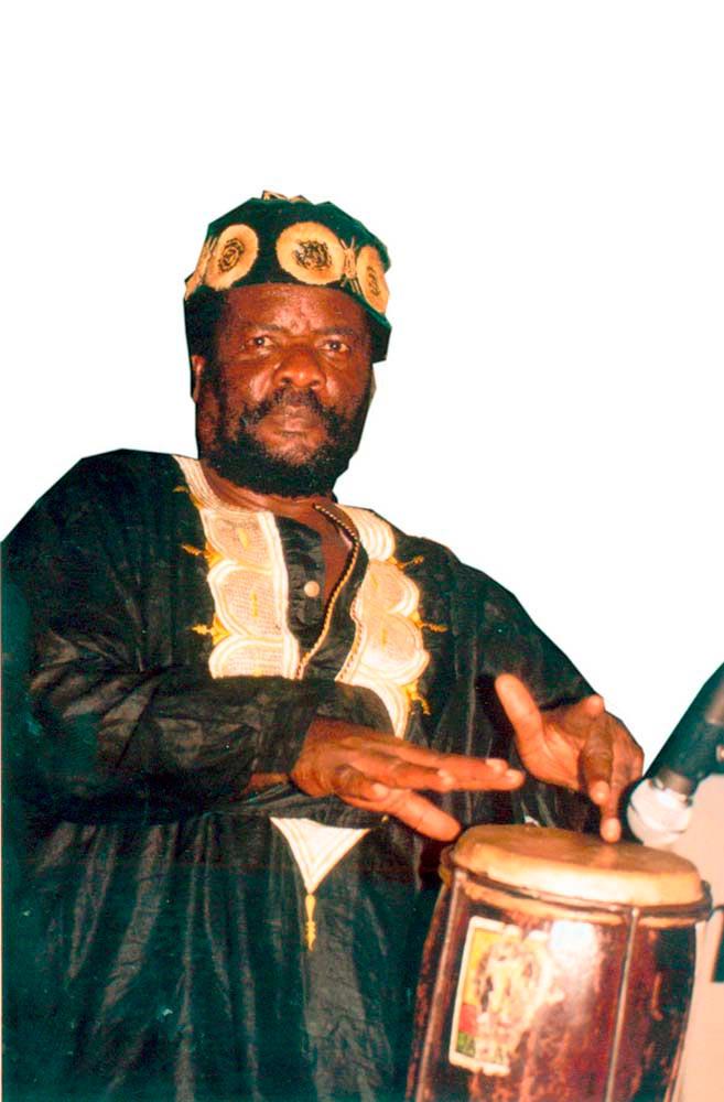 Bongo Herman, Jamaican master drummer. Photograph by Dexter Fletcher