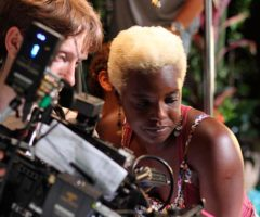 Shakirah Bourne, writer and director of A Caribbean Dream, with Robin Whenary, director of photography. Photo by Neil Marshall, courtesy A Caribbean Dream