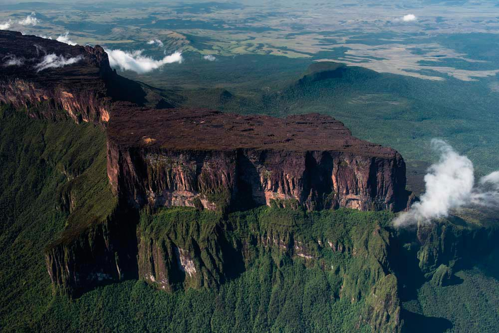 Roraima, Guyana's highest, is also where the country's borders meet Brazil and Venezuela, at the so-called Triple Point. Photo by Pete Oxford
