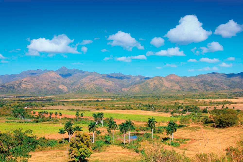 View across the Valle de los Ingenios, near the city of Trinidad. Shutterstock.com/Tupungato