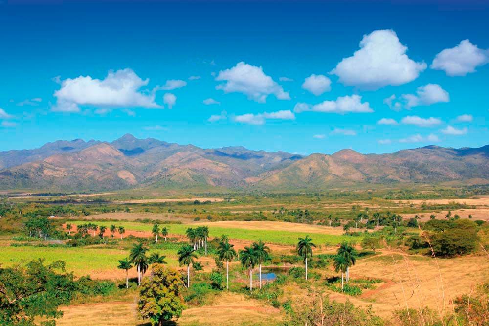 View across the Valle de los Ingenios, near the city of Trinidad. Shutterstock.com/Tupungato