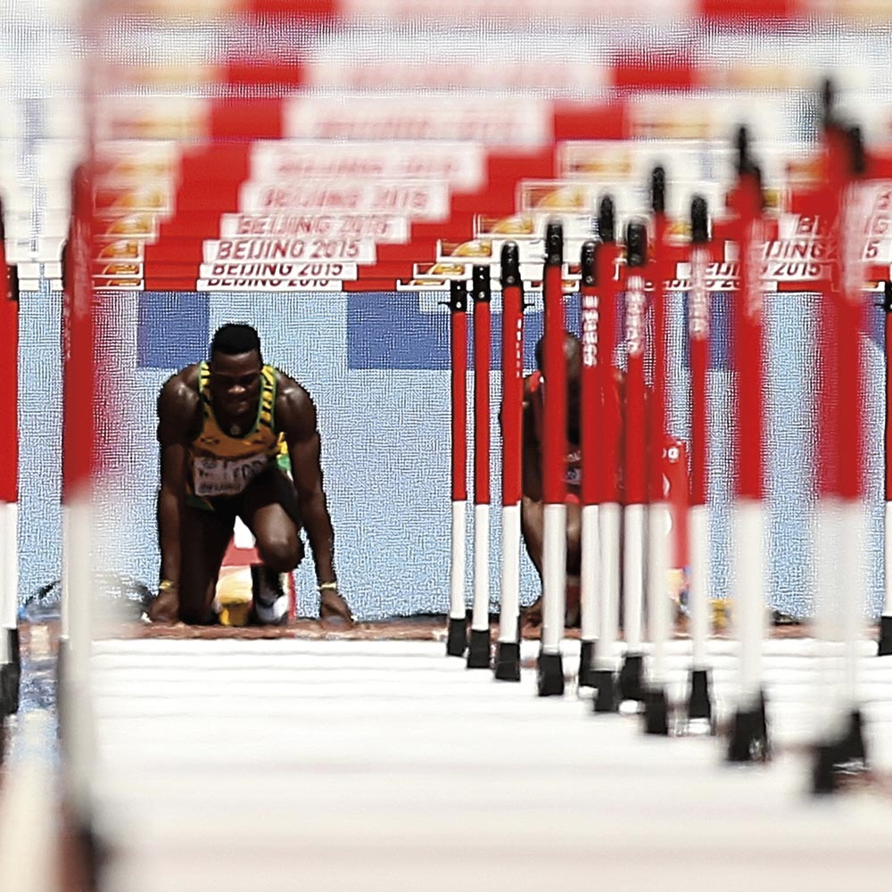 Omar McLeod. Photo by Patrick Smith/Getty Images